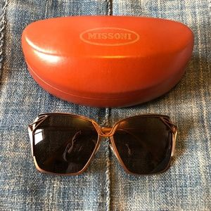 MISSONI Metal Frame Brown Sunglasses MI69802